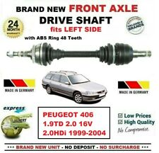 FOR PEUGEOT 406 1.9TD 2.0 16V HDi 1999-2004 BRAND NEW FRONT AXLE LEFT DRIVESHAFT