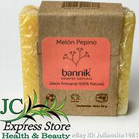 JABON ARTESANAL BANNIK MELON PEPINO 100% NATURAL 90 GRAMOS CUCUMBER MELON SOAP