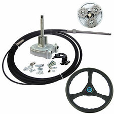 10FT Outboard Marine Steering System Helm With Boat Steering Cable & Wheel