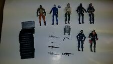 GI Joe Figures lot with Some Accessories & Weapons
