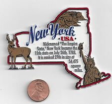 NEW YORK  MAP  INFORMATION MAGNET     EDUCATIONAL  5-COLOR