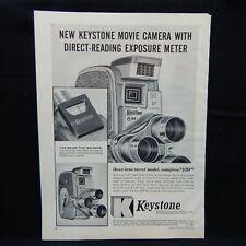 KEYSTONE 8mm MOVIE CAMERA 1958 MAGAZINE ADVERTISEMENT PHOTOGRAPHY