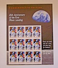 1994 25TH ANNIVERSARY FIRST MOON LANDING  29 CENT  $3.48 USPS STAMP SHEET - MINT