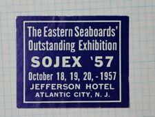 57 Sojex Atlantic City Nj Eastern Seaboards Expo Event Souvenir Ad