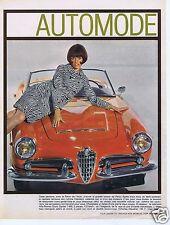 Publicité Advertising 056 1965 Alpha Roméo Gulia Spider
