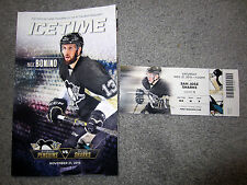 Penguins San Jose Sharks Ticket Stub 11-21-15 Patrick Marleau 1,000 Point Game +