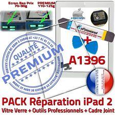 KIT Vitre Tactile iPad2 A1396 Blanc Écran Verre Assemblé Outils Joint Contour