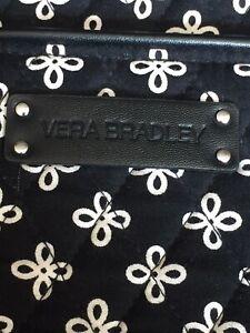 Vera Bradley Tote Black With Cream Floral