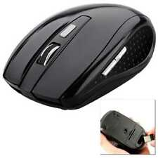 Wireless Optical Mouse 2.4G Cordless with USB 2.0 Receiver 1600 DPI for PC Black