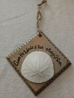 Real Sand Dollar Even the Wind and Sea Obey Him Wall Art Plaque Wood RAMFISH