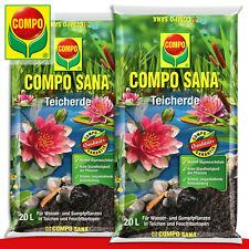 COMPO SANA® 2 x 20 l Teicherde Für Seerosen, Wasser- und Sumpfpflanzen Garten