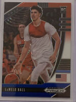 2020-21 Panini Prizm Draft Picks Lamelo Ball Red White Blue Prizm RC Rookie