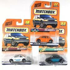 VW CONCEPT 1 - 1998 Matchbox LOT OF 3 CARS - Volkswagen Beetle, Brand New Sealed