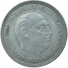 COIN / SPAIN / 5 PESETAS 1957    #WT17308