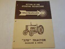 Original Cockshutt 570 Tractor Operator's Manual LOTS More Listed LG6
