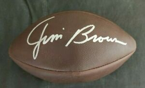 JIM BROWN CLEVELAND BROWNS SIGNED /AUTOGRAPHED WILSON NFL DUKE FOOTBALL COA JSA