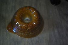 Moule ancien a gateau en terre cuite émaillé de forme kougelhopf, rare , n°11
