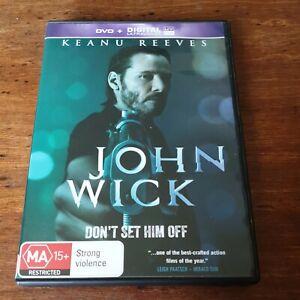 John Wick Keanu Reeves DVD R4 Like New! FREE POST