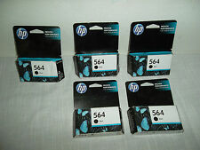 LOT-5 OEM HP 564 Black Inkjet Cartridge PhotoSmart C310 B111h C309a CB316WN NEW