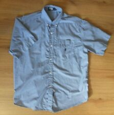 POLO Mens  Check Buttons Down Regular Fit Short Sleeve Shirt Medium