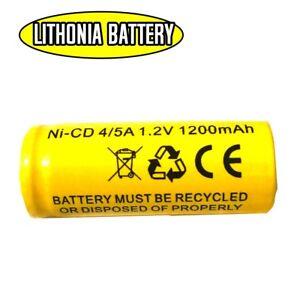 Battery 1.2V 1200mAh 1000mAh NiCd Sanyo KR-1100AEL Lithonia ELB1201N Replacement