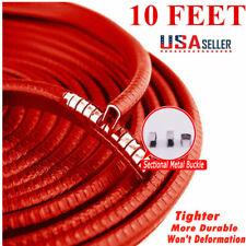 10Ft Red Car Door Trim Rubber Moulding Edge Sealer Guard Strip Scratch Protector