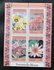 TIMBRES DE TANZANIE : 1986 YVERT BLOC FEUILLET N° 46** NEUF - THEME FLEURS - TBE