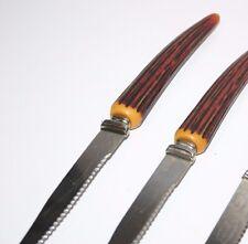 Vintage Regent Sheffield Stainless Steel Stag Handle Steak Knife England