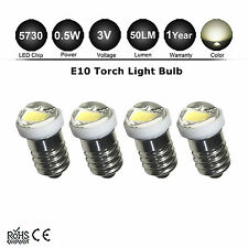4pcs E10 Mini Bulbs DC 3V Warm White LED Screw Indicator Replacement Torch Light
