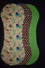 Baby Boy Jungle Animal Burp Blankets, pack of 3 - handmade