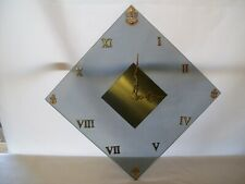 Vintage United States Navy Square Glass & Brass Quartz Wall Clock New Movement