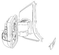 Espejo retrovisor Opel-Genuino NUEVO - 95517317
