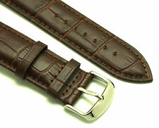 22mm Brown Alligator Grain Leather Replacement Watch Strap  - Fossil Watches