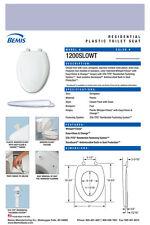Bemis 1200Slowt-444 Elongated Plastic Slow Close Toilet Seat - Skylight