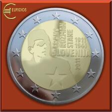 """2 Euro Gedenkmünze Slowenien 2011 """" Franc Rozman """" , bankfrisch"""