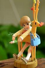 Japan Anime Nichijou Cute Girl Yuuko Aioi & Deer Promo Figure Rare