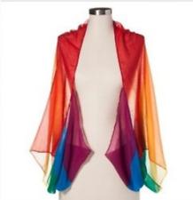 075acb18851ed Merona Multicolor Chiffon Shawl Scarf Wrap NWT