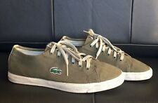 Lacoste Green Canvas Sneakers Size US 6