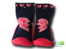 Bebé Interior Antideslizante Calcetines Zapatillas con Suela de Goma Talla 4-9