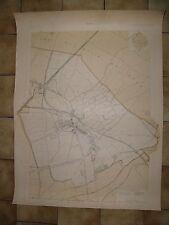 Grande carte détaillée de STAINS 1895 ponts et chaussées Seine Saint Denis