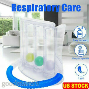 Breathing Exerciser Lung Deep Breath Trainer Incentive Spirometer Spirometry USA