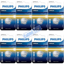 8 x Philips CR2016 3V Lithium Button Battery Coin Cell DL2016 for Car Key Fobs