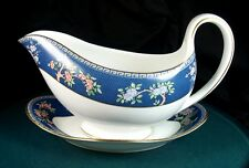 Wedgwood Blue Siam Gravy Boat & Saucer 1st Quality New Unused