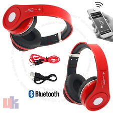 New Foldable Wireless Bluetooth 4.2 Headset Stereo Red Headphone Hands free