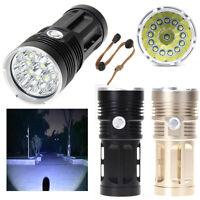 SKYRAY 36000LM 14x CREE XM-L T6 LED Flashlight Torch 4x 18650 Hunting Light Lamp