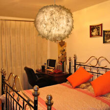 Modern Goose Feather Pendant Light Bedroom Chandelier Lamp Ceiling Fixture Decor