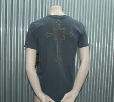 Ve'cel S/S Cross Vintage T-Shirt Grey Vecel $65 M RARE!