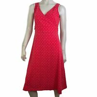Eddie Bauer Dress Women Size Medium Tall Crossover Shift Sleeveless Athletic