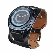 Genuine Leather Watch Band Cuff Bracelet Watch for Moto 360 2nd Gen Man 42mm