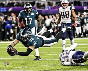"Zach Ertz Philadelphia Eagles Unsigned Super Bowl LII Touchdown 8"" x 10"" Photo"
